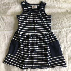 Hanna Andersson navy stripe dress ⛵️